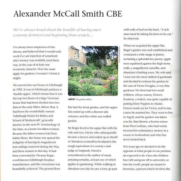 Alexander Mccall Smith CBE, Charity Gala Preview – 2007
