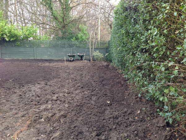 new layout starts to take shape and plant bed preparation starts