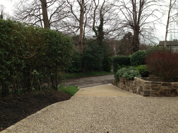 finished sloped driveway