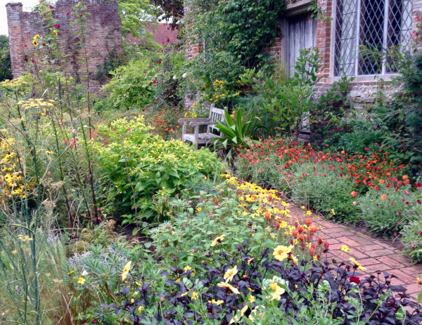 The colourful cottage garden at Sissinghurst