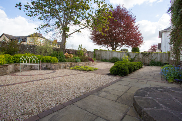 1930's house with front garden/driveway design by Polley Garden Design