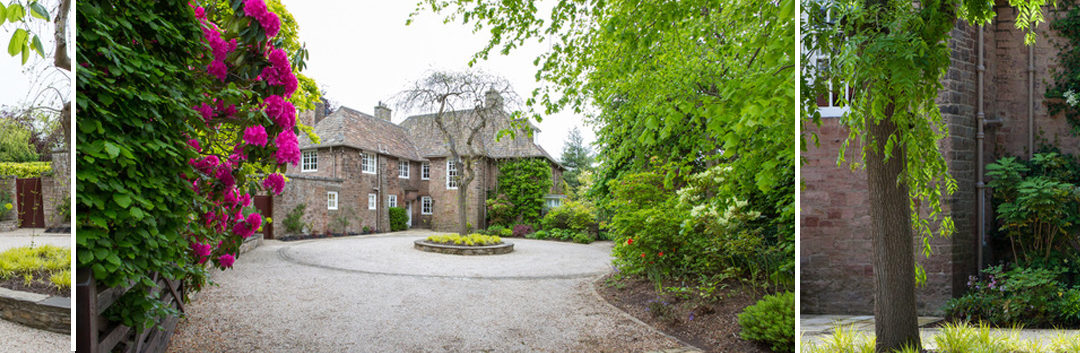 An Arts and Crafts House Front Garden and Driveway