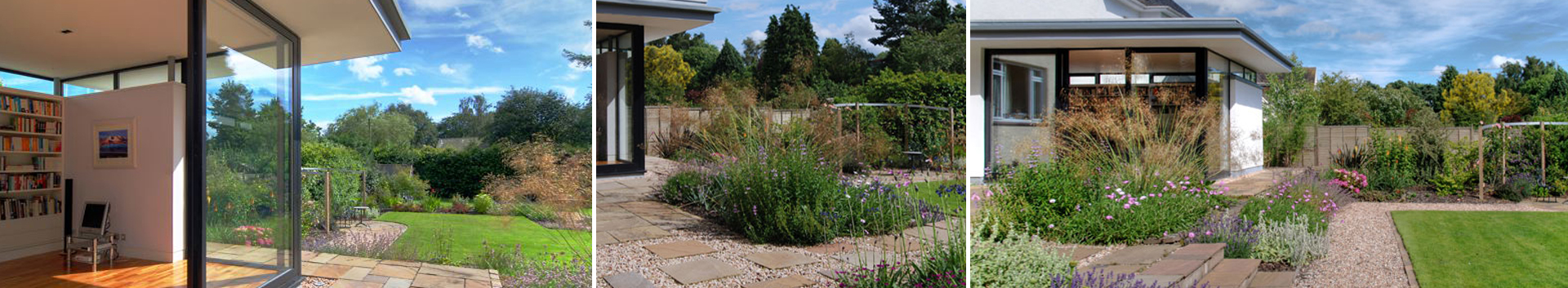 Our Garden Design service - We developed a contemporary garden design to compliment a new extension